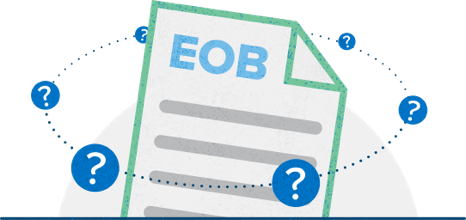 Illustration of the concept of having questions about Explanations of Benefits (EOBs)